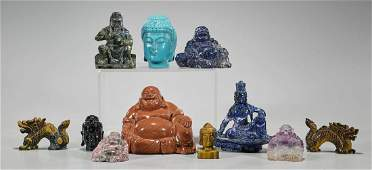 Group of Eleven Various Chinese Carvings