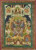 Large Painted Thangka