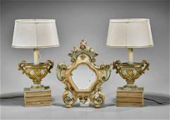 Three Various Pieces Mirror  Lamp