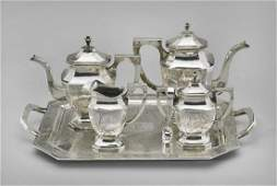 CHINESE STERLING SILVER TEA SET