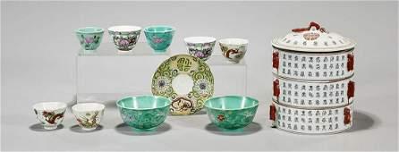 Group of Chinese Enameled Porcelains
