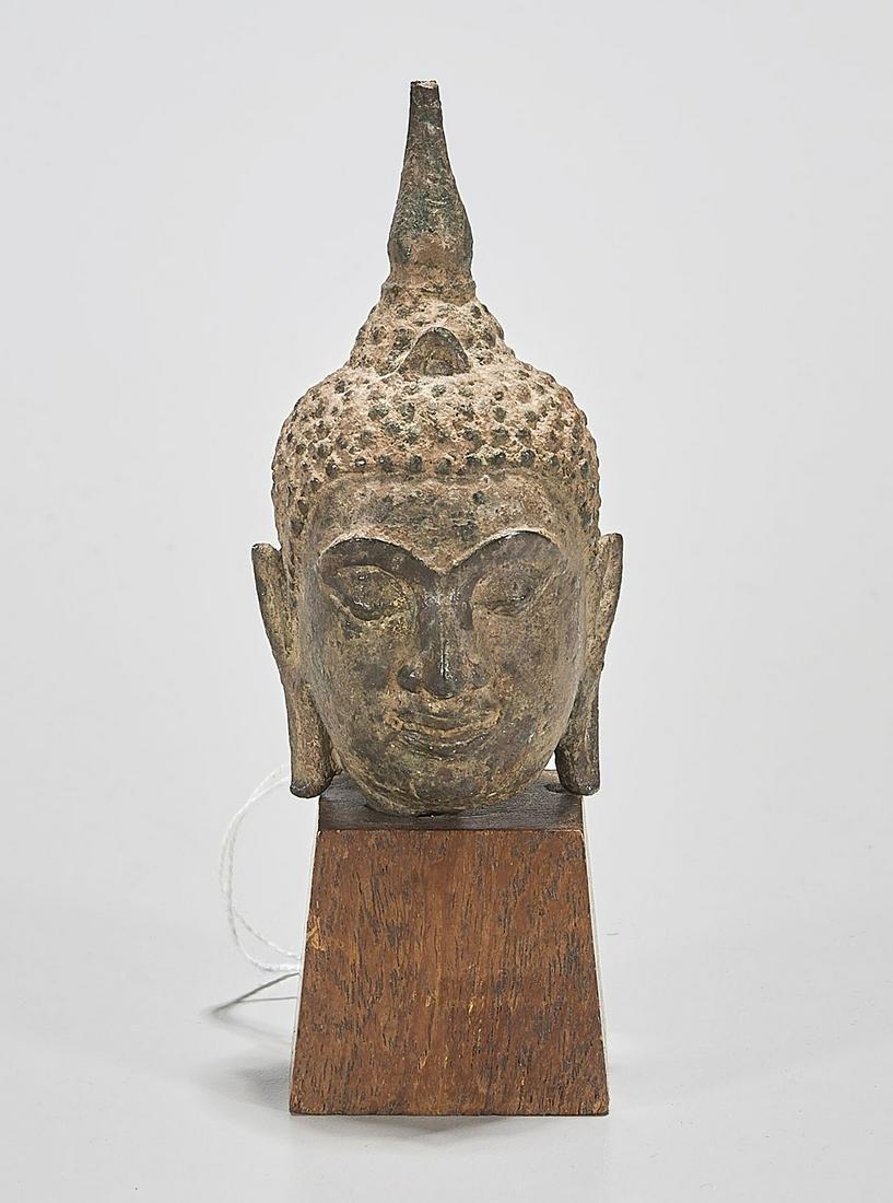 Antique Southeast Asian Bronze Head