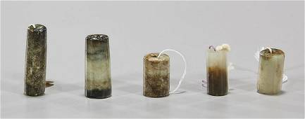 Group of Antique Chinese Jade & Hardstone Beads