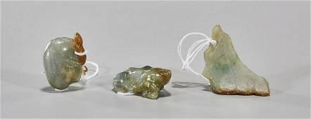 Three Antique Chinese Jadeite Carvings