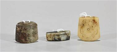 Three Antique Chinese Jade Carvings