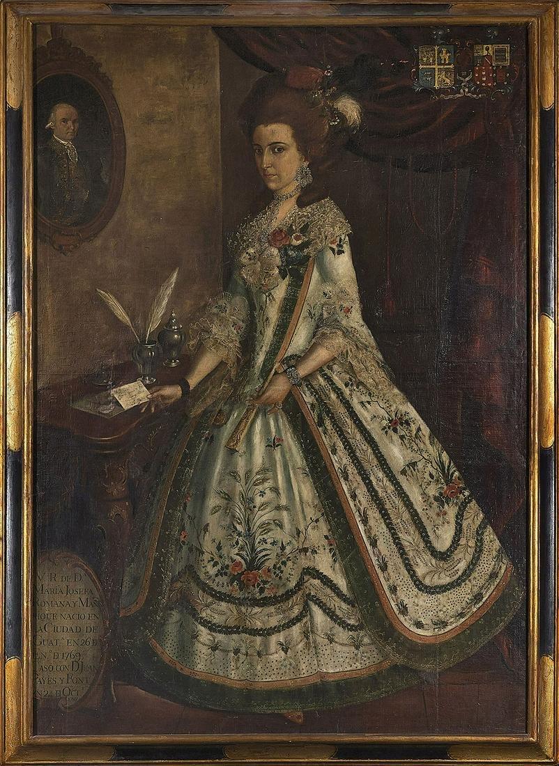 18th Century Spanish Colonial Portrait of Maria Josefa