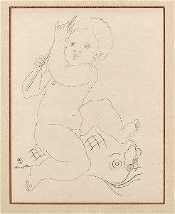 Ink on Paper by Foujita