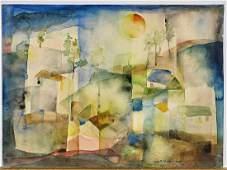 Watercolor by Wolfram Adalbert Scheffler