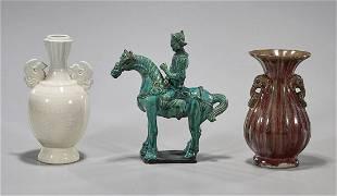 Three Chinese Ceramic Pieces