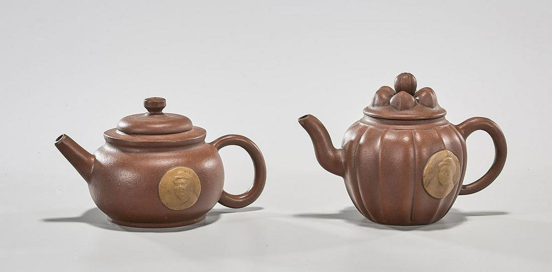 Two Chinese Yixing Pottery Teapots