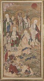 17th Century Chinese Painted Fresco