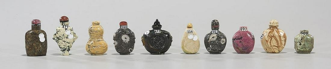 Group of Ten Various Chinese Snuff Bottles