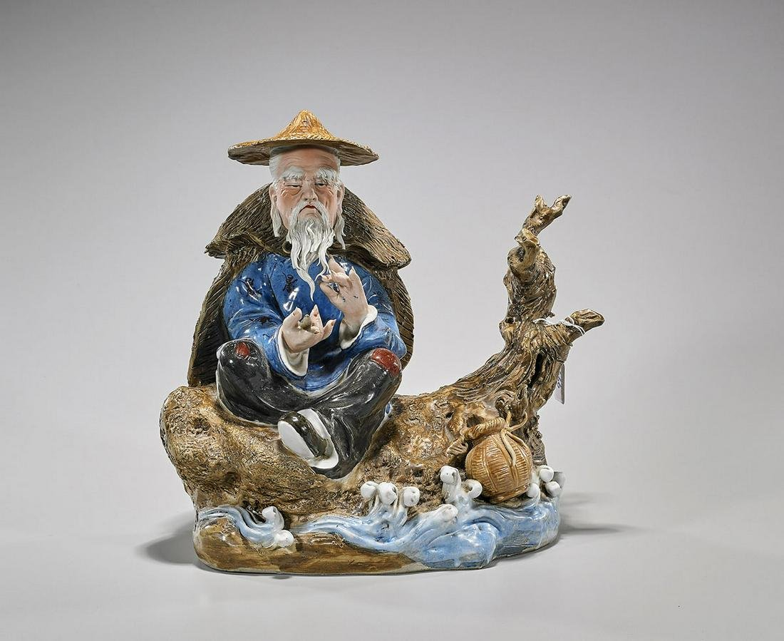 Old Chinese Glazed Ceramic Figural Group
