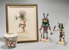 Group of Four Native American Objects