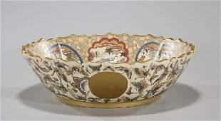 Large Japanese Satsuma-Type Bowl