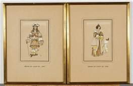 Set of Twelve Court Fashion Prints