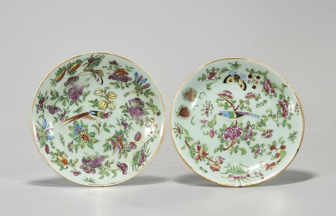 Two Chinese Antique Famille Rose Dishes