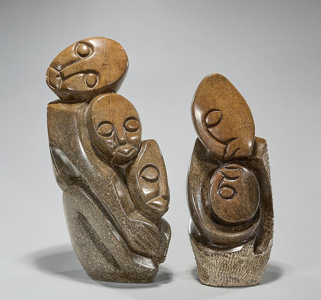 Two Shona Stone Sculptures