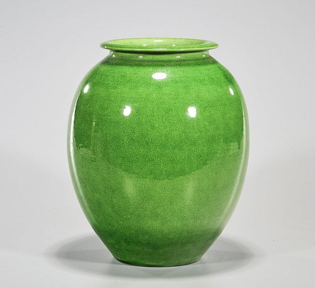 Chinese Green Glazed Porcelain Jar