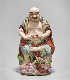 Chinese Enameled Porcelain Lohan