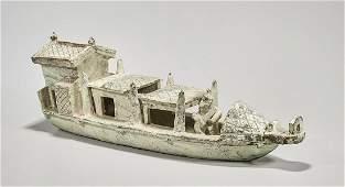 Chinese Glazed Ceramic Boat