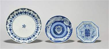 Group of Three Antique Japanese Porcelain Dishes