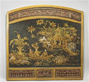 Chinese Painted Panel