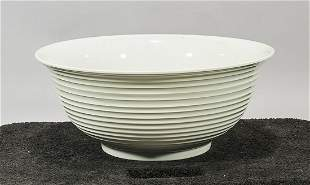 Large Chinese White Glazed Porcelain Bowl