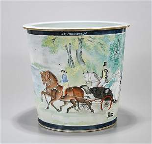 Chinese Painted Porcelain Jardiniere