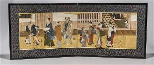 17th/18th C. Japanese Two-Panel Screen