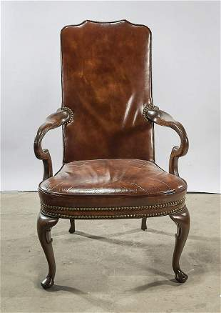 Hickory Chair Company Leather Arm Chair