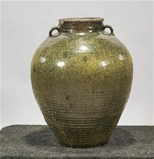 Large Glazed Ceramic Jar