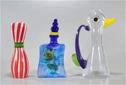 Group of Four Kosta Boda Glass Artworks