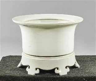 Chinese White Glazed Porcelain Jardiniere