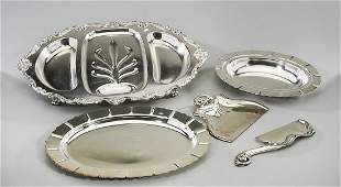 Group of Five Silver Plate Service Articles