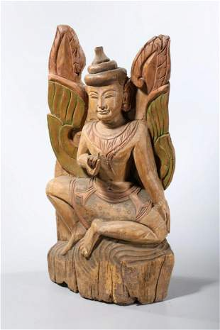 Southeast Asian Carved Wood Sculpture