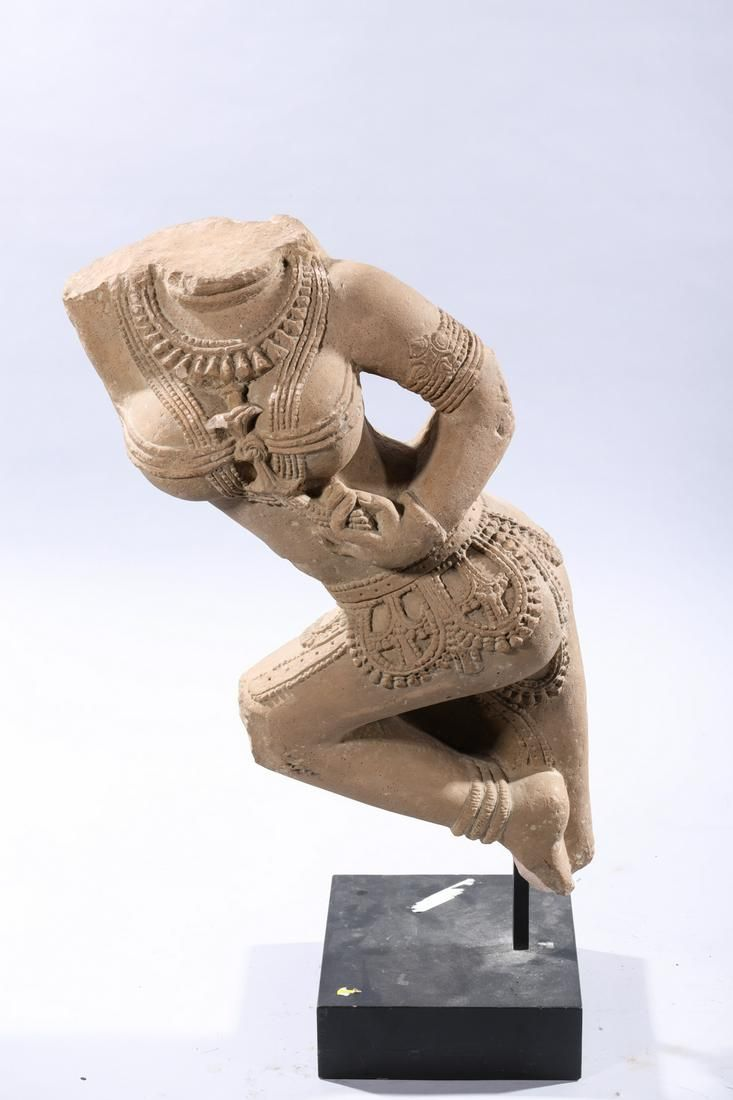 Indian Carved Sandstone Figure of a Deity