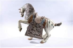 Large Painted Lladro Porcelain Horse