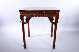 Chinese Huanghuali Side Table