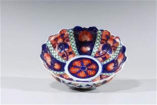 Early 20th C. Japanese Scalloped Rim Bowl