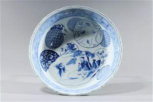 Chinese Export Porcelain Blue and White Bowl