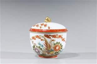 Chinese Enameled Porcelain Covered Bowl