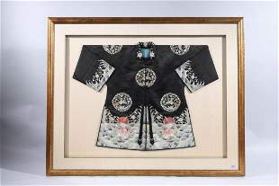 Framed Antique Chinese Silk Robe