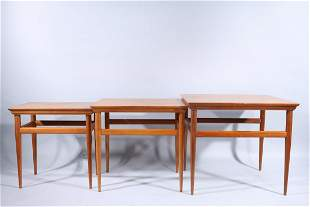 Set of Three Mid-Century Nesting Tables by Heritage