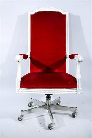Red Eastlake Style Gliding Chair