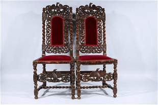 Set of Two Antique Dining Chairs