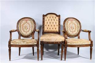 Set of Three French Antique Chairs