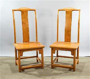 Pair of Chinese Wood Chairs