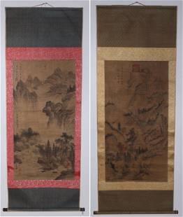 Two Chinese Scrolls After Xia Gui & Ma Yuan