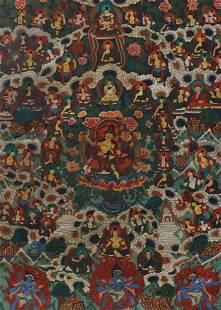 Elaborate Painted Thangka